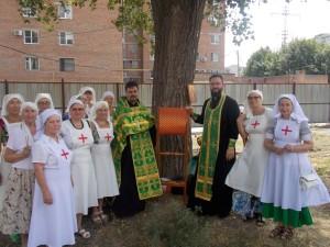 Ректор ДДС принял участие в молебне на месте закладки храма преп. Серафима Саровского в г. Таганроге